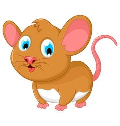 Funny fat mouse cartoon posing vector