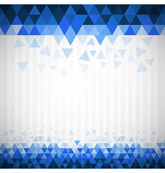 Abstract retro blue triangle background vector