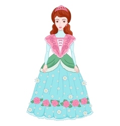 Beautiful brunette princess in vector