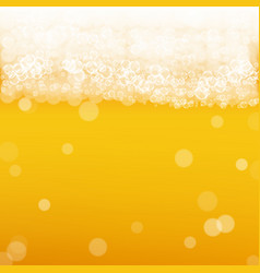 beer background with realistic bubbles vector image