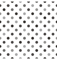 Black grey polka dots tile white background vector image vector image