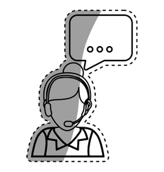 Call center consultant vector