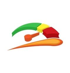 Car fuel gauge icon cartoon style vector image