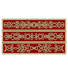 celtic ornaments vector image vector image