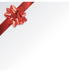 Christmas Present Background with Red Bow vector image