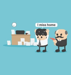 Concept businessman did not return homei miss home vector