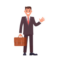 Flat design character businessman vector