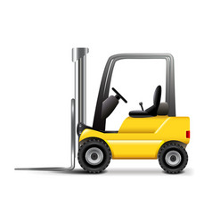 Forklift isolated on white vector