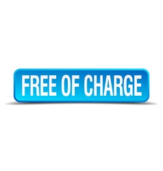 Free of charge blue 3d realistic square isolated vector
