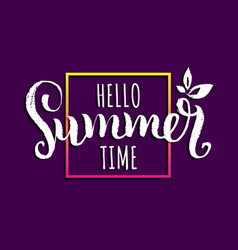 hello summer time background vector image vector image