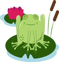 Lilly pad frog vector