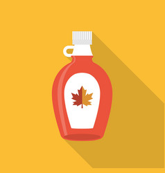 maple syrup bottle icon vector image