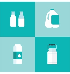 Milk icon package types vector