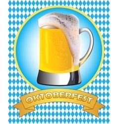 Oktoberfest poster design vector image vector image