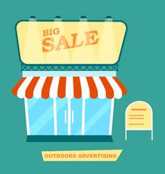 Outdoor advertising market signpost vector