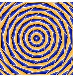 Spiral twisting to center Abstract optical vector image