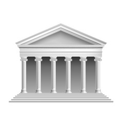 Temple with colonnade vector image vector image