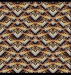 tiled meander seamless pattern modern surface vector image vector image