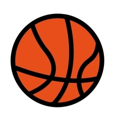 Basketball ball equipment icon vector