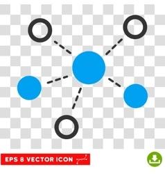 Virtual Links Eps Icon vector image