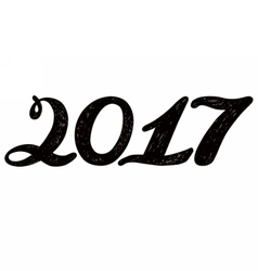 2017 numbers for quote lettering vector