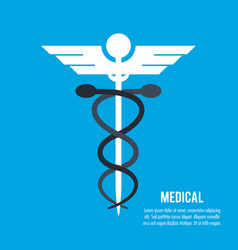 medical cadecius health care vector image