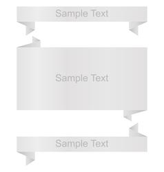 White banners setorigami vector image
