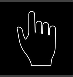 pointing hand it is icon vector image