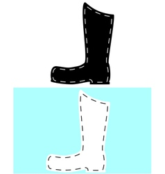 Leather boots vector