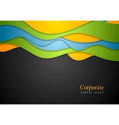 Colorful waves corporate design vector