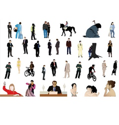 people outlines vector image