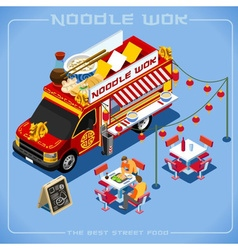 Food truck 08 vehicle isometric vector