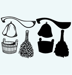 Sauna ready accessories vector