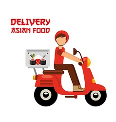 Asian food delivery vector