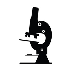 Microscope icon black vector