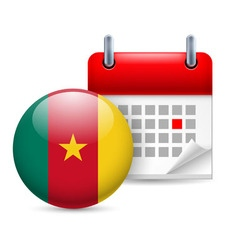 Icon of national day in cameroon vector