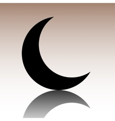 Black moon icon vector