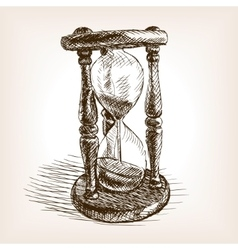 Hourglass hand drawn sketch vector image