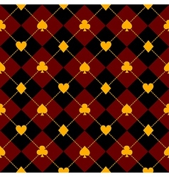 Card suits black royal red diamond background vector