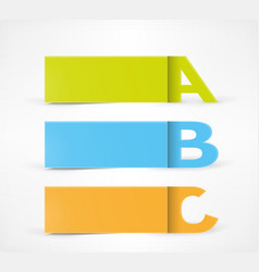 3 option banners vector