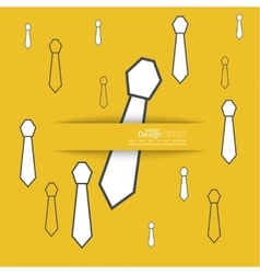 Neck tie solid color vector