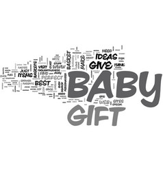 Babygift text word cloud concept vector
