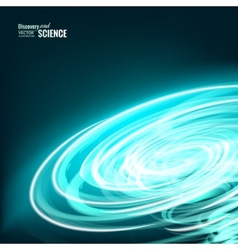 Blue tornado vector image vector image