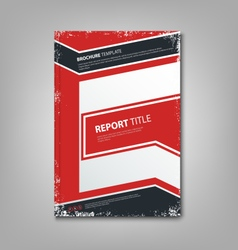 Brochure book or flyer with abstract blue red vector image vector image