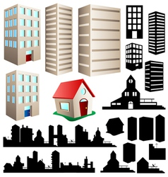 Building and cityscape set vector