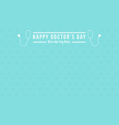 Card for doctor day vector