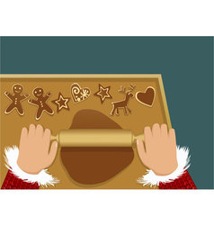Christmas gingerbreads vector image vector image