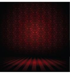 Dark interior vector image vector image