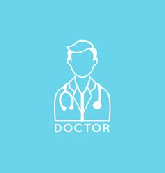Doctor logo icon design vector