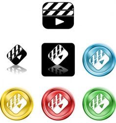 film clapper boards vector image vector image